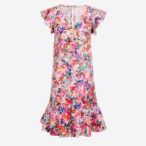 NWT J. Crew Floral Printed Pinafore Dress